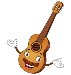 Guitar cartoon vector