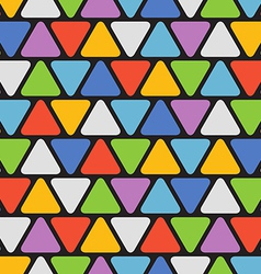 Abstract seamless pattern with color triangles vector image vector image