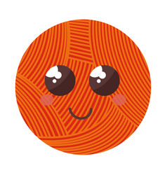 Ball of wool comic character vector