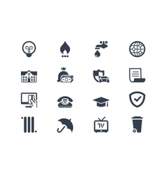 Billing icons vector image vector image