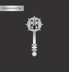 Black and white style icon of ukrainian mace vector