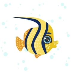 Butterfly fish drawing vector