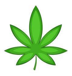 Chestnut leaf icon cartoon style vector