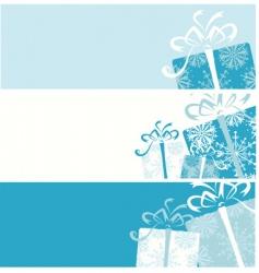 Christmas gift box banners vector image vector image