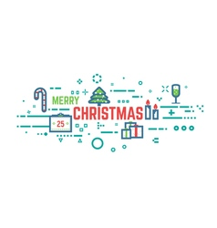 Christmas line background vector