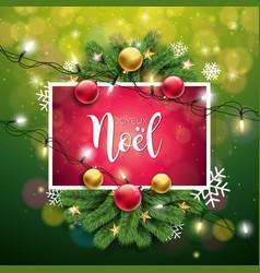 christmas with french joyeux vector image