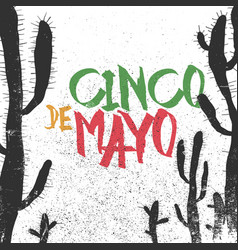 cinco de mayo 5 of may holiday cinco de mayo vector image vector image