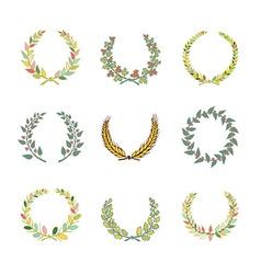 Circular laurel wrearhs vector image