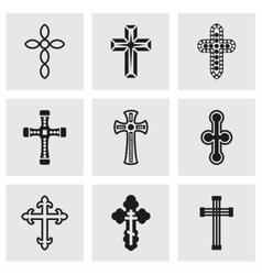 Crosses icon set vector image vector image