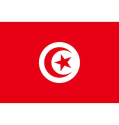 Flag of Tunisia vector image