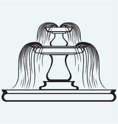 Fountain in the style of renaissance vector image
