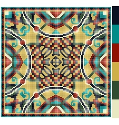 geometric square pattern for cross stitch vector image vector image