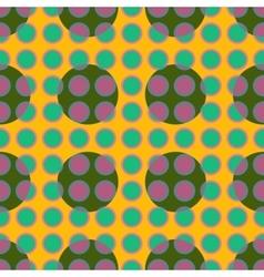 Green polka dot geometric seamless pattern vector image vector image