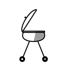 Grill bbq food picnic shadow vector