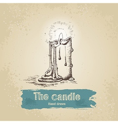 Hand drawn candle vector image vector image