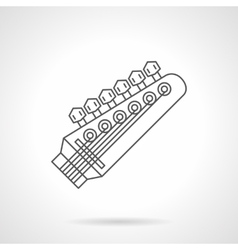 Headstock flat line icon vector image vector image