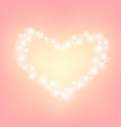 Heart abstrack sparkling frame pink background vector