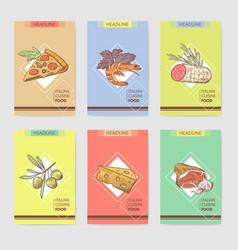 italian food menu design template poster banner vector image vector image