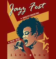 jazz festival retro poster vector image vector image