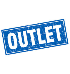Outlet square stamp vector