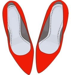 RED shoes heels vector image vector image