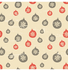 Retro style seamless Christmas baubles pattern vector image vector image