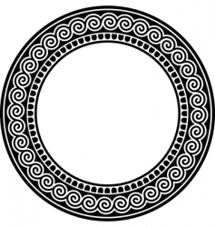 Round frame with a meander vector