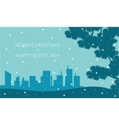 Scenery winter New Years and Christmas vector image