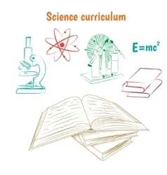 Science curriculum concept vector