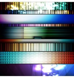 set of abstract frames vector image vector image