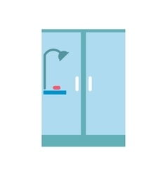 Shower cabin flat icon vector