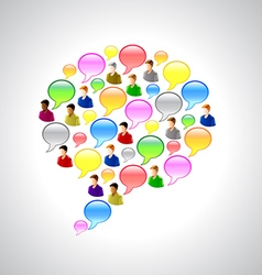 Speech bubbles and user icons background vector image vector image