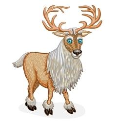 Standing reindeer animal cartoon character vector