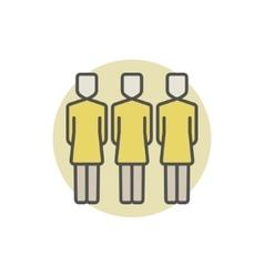 Three women colorful icon vector