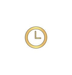 Time clock computer symbol vector