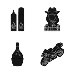 Transport cooking and or web icon in black style vector
