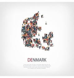 People map country denmark vector