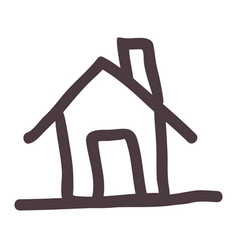 Hand drawing silhouette house icon vector