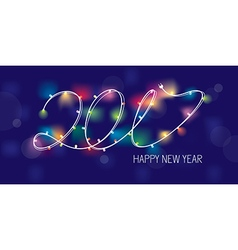 2017 new year greeting banner vector image vector image