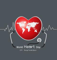 29 september world heart day concept design vector