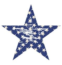 Grunge star2 vector
