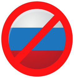 Russian ban icon isolated vector