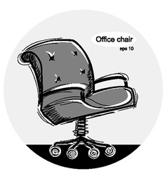 Office chair black sketchy vector