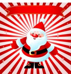 Santas background vector