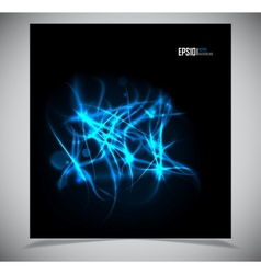 abstract energy formation - blue theme vector image vector image