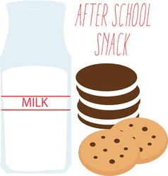 After school snack vector