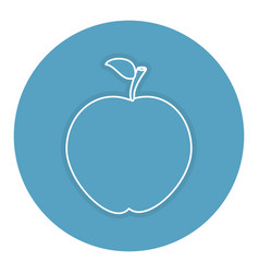 Apple fresh fruit icon vector