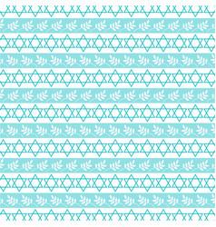 Aqua blue jewish star stripe vector