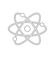 Atom sign black dotted icon vector