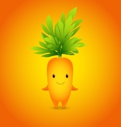 Baby Orange Carrot Cartoon Character vector image vector image